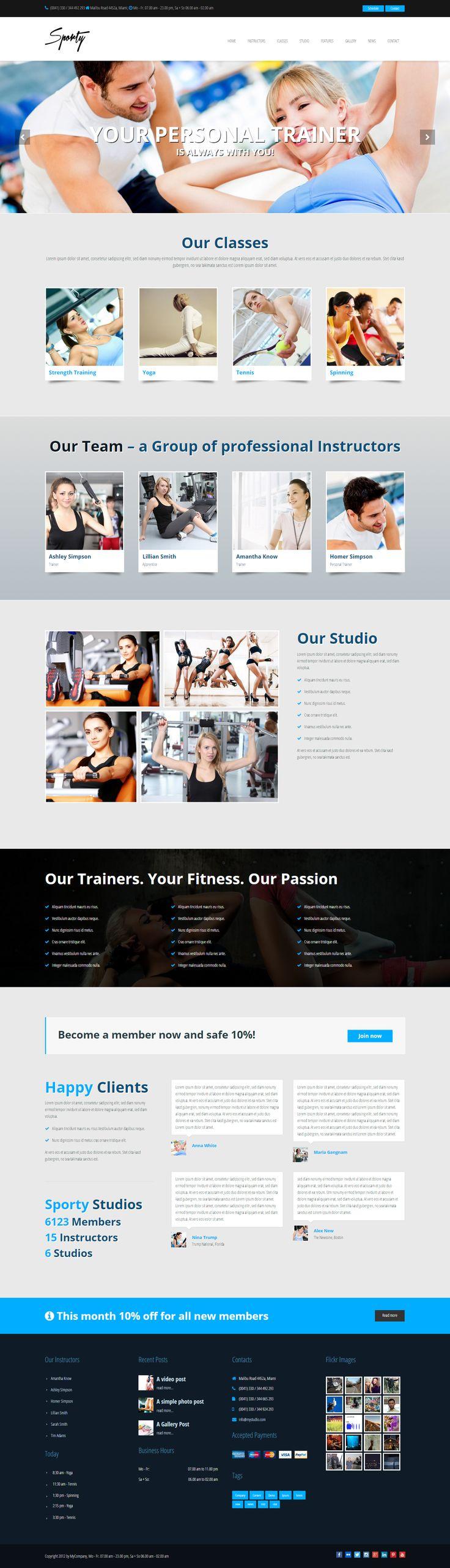 Sporty - Sport & Gym WordPress Theme  http://7theme.net/downloads/sporty/