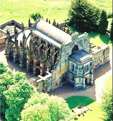 Knights Templar: Rosslyn Chapel in Midlothian, Scotland. Founded in the mid-15th century by William Sinclair, who was descended from a noble family of Norman knights. The chapel is said to have many Knights Templar symbols, and has been featured in more than one novel.