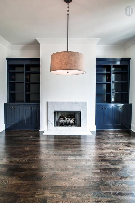 Dark Painted bookshelves, pale mantle 4706 Belmont Park Ter, Nashville TN 37215 - Zillow