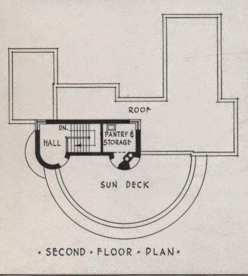 More art deco and moderne house plans including the house for Art deco house plans