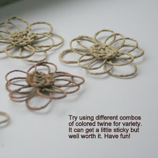 Jafa House: Twine Flower Tutorial