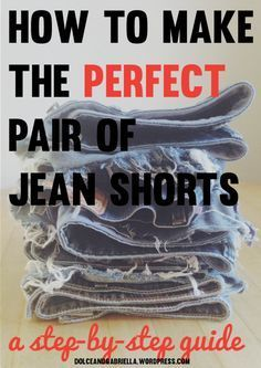 how to make jean shorts