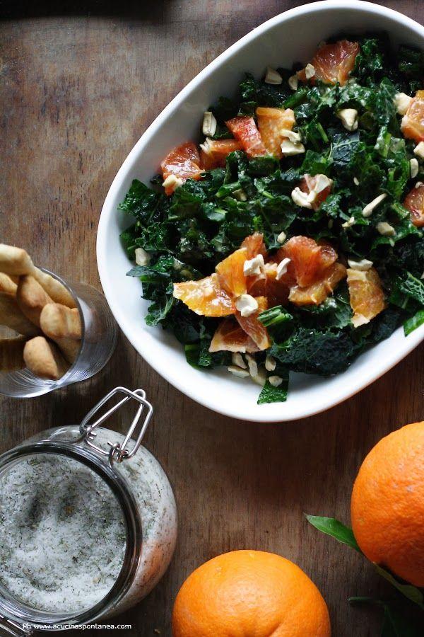 insalata di cavolo nero e arance