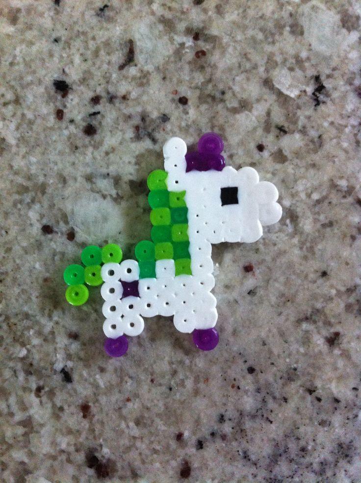 Perler beads unicorn
