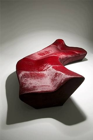 TITLE  :  Moraine  ARTIST:  Zaha Hadid (British, b.1950)  WORK DATE:  2000  CATEGORY:  Design  MATERIALS: Polyurethane foam, fur  SIZE:  h: 338 x w: 75 x d: 120 cm /  h: 133.1 x w: 29.5 x d: 47.2 in  STYLE: Contemporary Design