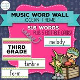 Music Room Essentials - Ocean Music Word Wall