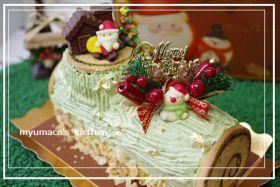 「抹茶のブッシュドノエル」みゅまこ | お菓子・パンのレシピや作り方【corecle*コレクル】