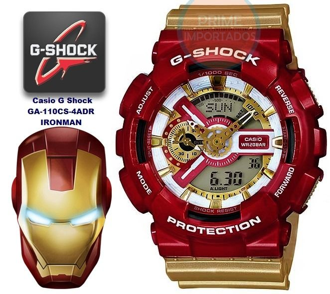 Relogio Casio Avengers G Shock Ironman Autentico Vingadores - R$ 1.499,99 no MercadoLivre