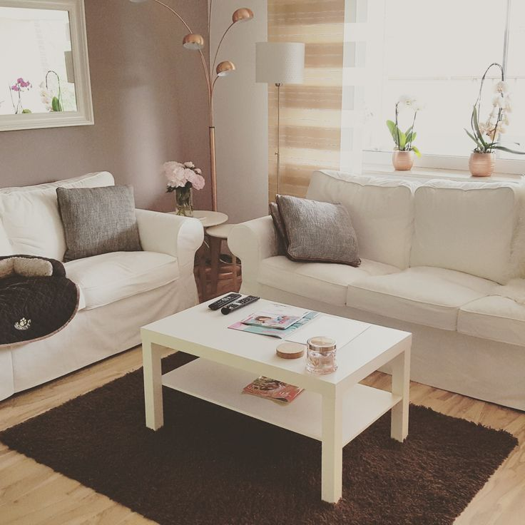 So Lebe Ich Mein Wohnzimmer Ikea Ektorp Ikea Lack Kupfer Taupe