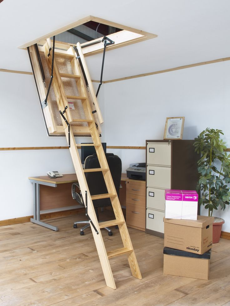 The Heavy Duty Commercial Stira Folding Attic Stairs Bigger Hinges And Bigger Ladder Loftladder Stira Folding Attic Stairs Attic Stairs Flooring For Stairs