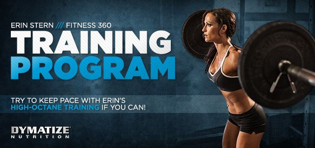 Build Muscle: Erin Stern Fitness 360: Training Program Erin Stern trains at high speed with heavy weight to help burn the calories and strengthen those muscles. #buildmuscle