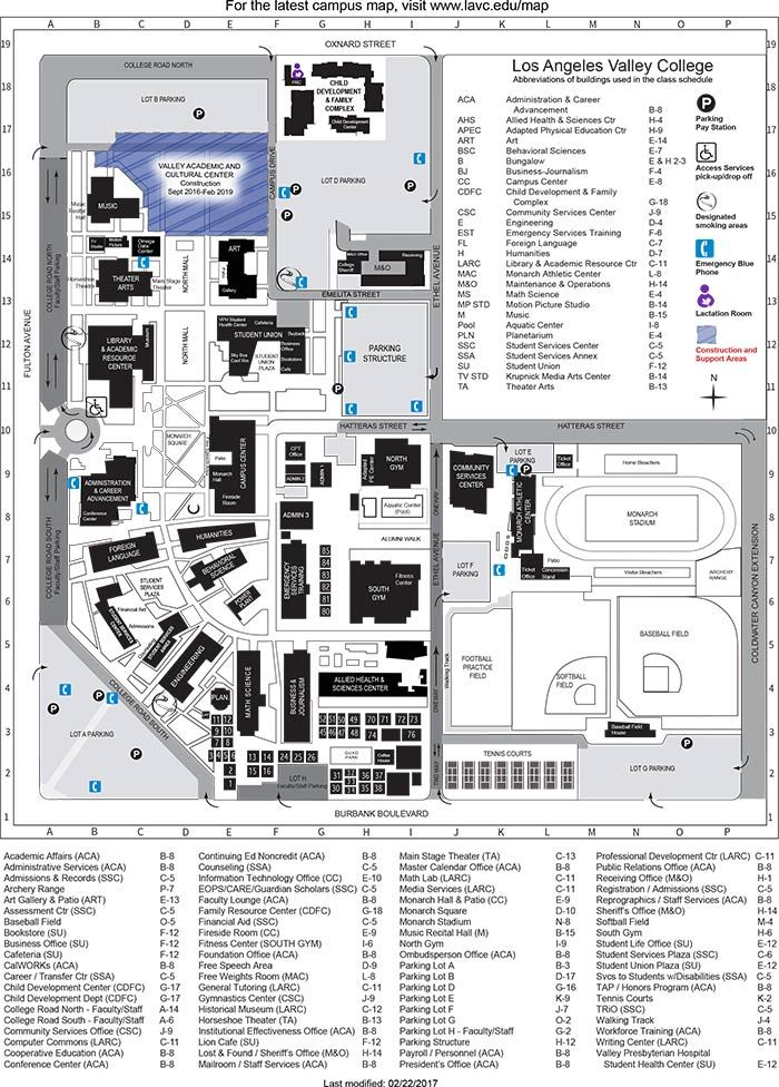 Pasadena City College Campus Map | Helderateliers
