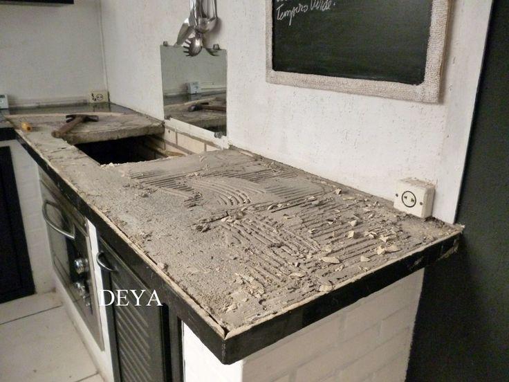 como fazer balcão de cimento queimado  Pesquisa Google  patuscada  Pintere -> Como Fazer Pia De Banheiro Com Cimento Queimado