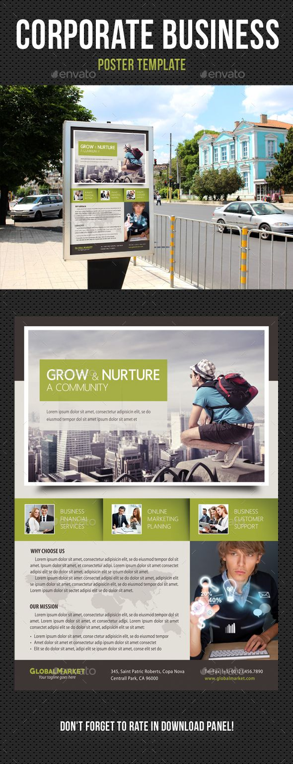 Poster design dos and donts - Corporate Business Poster Design Template V08 Signage Print Template Psd Download Here Https