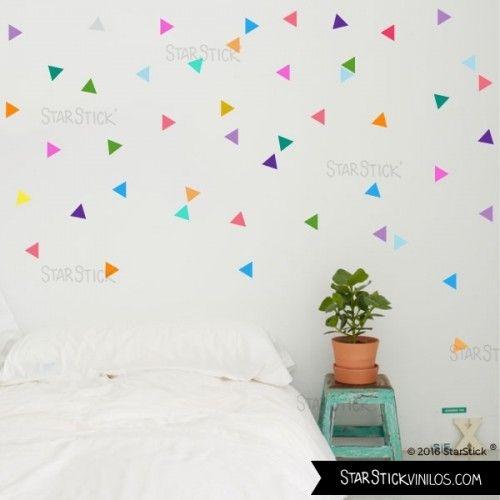 Triángulos Hipster Confeti - Vinilos decorativos de pared