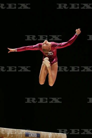 46th World Artistic Gymnastics Championships, Glasgow, Scotland, Britain - 29 Oct 2015  Lieke Wevers competes on the balance beam during the women's all-around final 29 Oct 201
