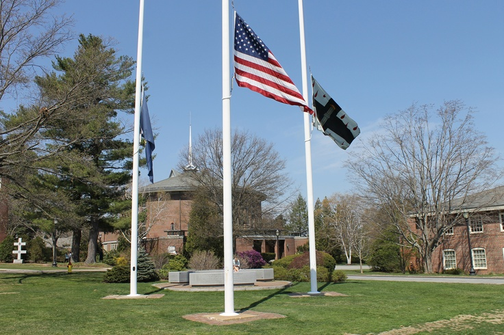 Our flags fly at half-mast today in honor of Greenland, New Hampshire Police Chief Michael Maloney who was gunned down on Thursday night in the line of duty.