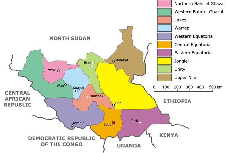 Administrative divisions of South Sudan