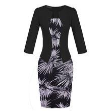 Wiosna lato dress gabinet formalna black red dot drukuj plus rozmiar vestidos de festa kobiety odzież odzież robocza ołówek bodycon dress(China (Mainland))