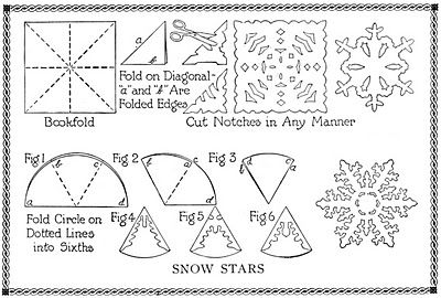 Who needs a refresher on how to cut a homemade snowflake??