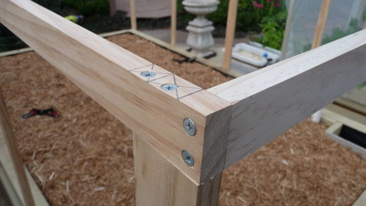 17. Pest Exclusion Frame.  This is a typical joint in the pest exclusion frame.