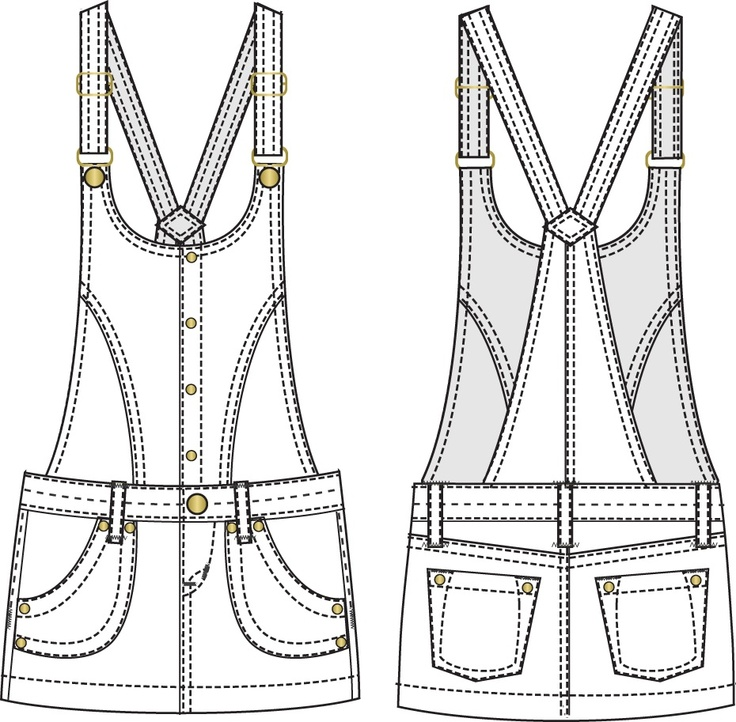 Free Flat Fashion Sketch