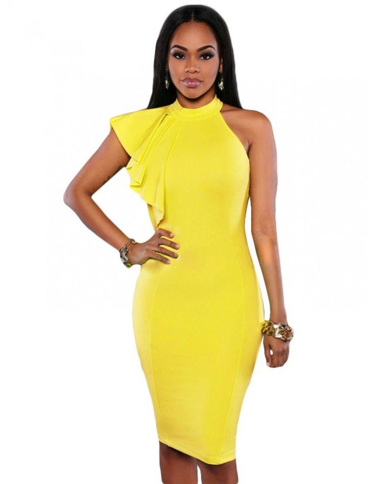 Resultado de imagen para vestido amarillo