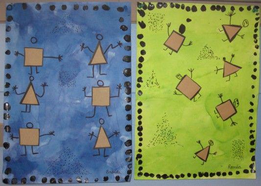 A la manière de P. Klee, La danse de la peur - Autour de, à la manière de... - Galerie - Forums-enseignants-du-primaire