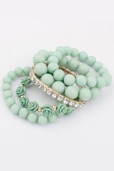 Sweet Rosette Bracelet Set OASAP.com