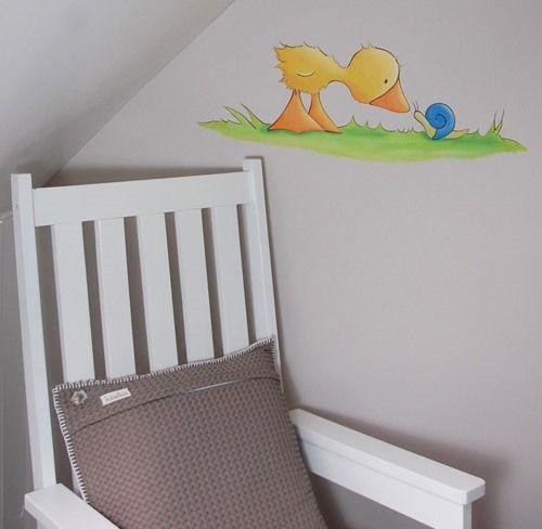 Gonnie en gijsje muurtekening,  zie meer  Gonnie en Gijsje wanddecoratie op de website van BIM Muurschildering.