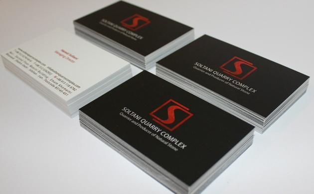 Name cards design for Soltani Quarry Complex