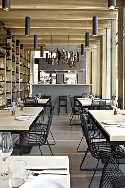 cosy modern and stylish restaurant interior design ideas - Beaded Inset Restaurant Interior