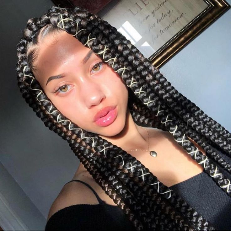 Big Box Braids 😍 Kaylabylon Braid Hairstyles In 2019