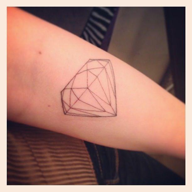 #diamond #outline #tattoo #thin | You are a diamond ...
