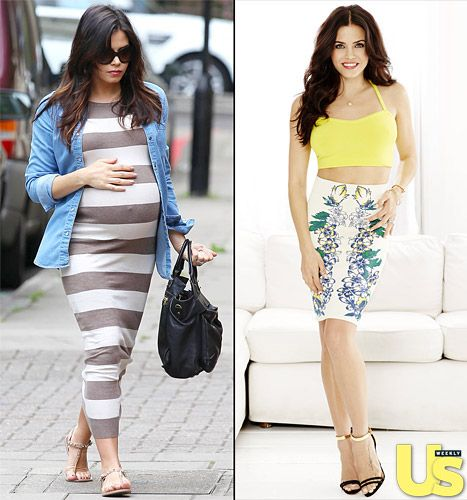 """Jenna Dewan Tatum Post-Baby Body: 33 Pregnancy Lbs. """"Melted Off"""" - celebrity mom. For more information on how to look good after baby go to www.auraimageconsulting.com"""