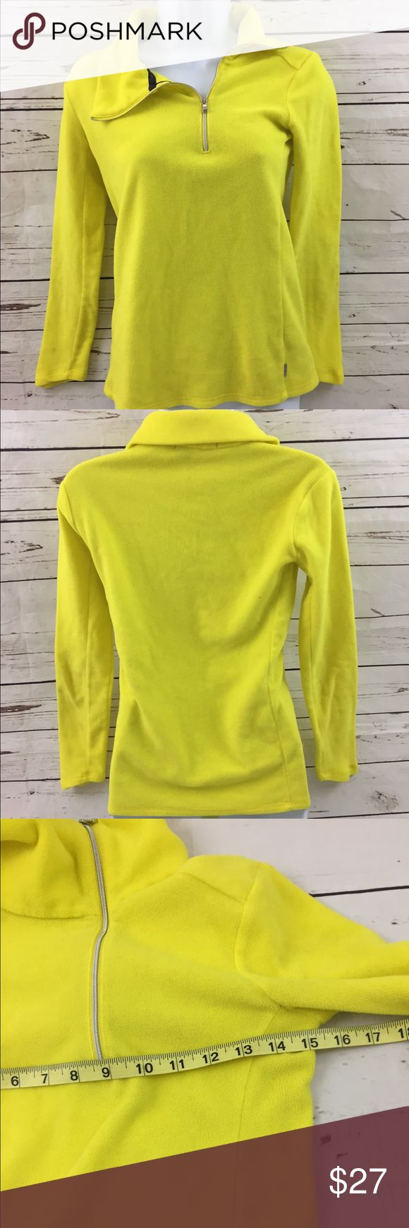 Ralph Lauren women's Top Sz XS neon yellow RLX activewear Tops Tees - Long Sleeve