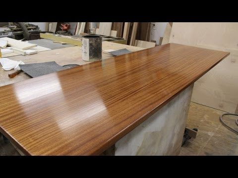Finishing A Wooden Countertop By Jon Peters This Is Part 2 Of Making The Wood Diy S Ideas Tips And Step X Instructions In 2018