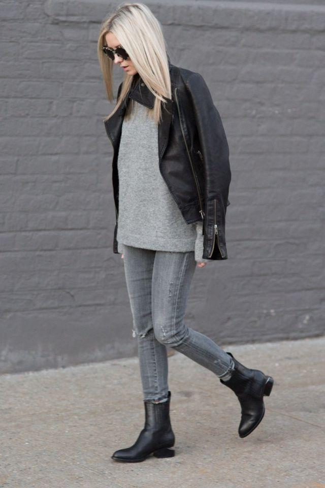 grey + black.