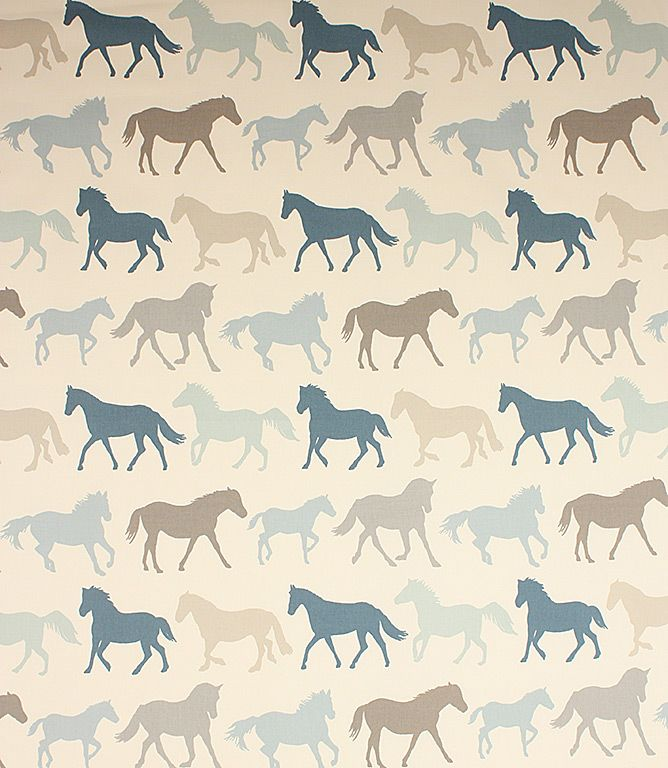Stampede fabric is a great contemporary curtain fabric, also suitable to use as a blind fabric or cushion fabric. This horse fabric would be great in a kids bedroom, 100% cotton contemporary fabric comes in three fab colourways. Buy online today or visit one of our designer fabric clearance shops in Burford, Oxfordshire or Cheltenham, Gloucestershire.
