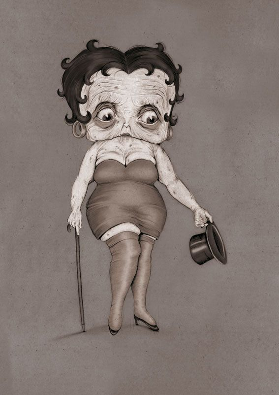 Old lady Betty: Boop Open A Baptism, Bettyboop, Betty Boop, Illustration, Boop Boop, Humor, Drawing