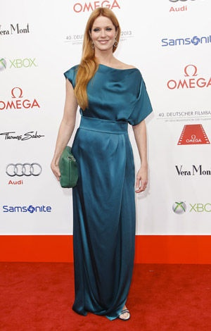 Actress Esther Schweins  at the 40th German Filmball 2013 in Munich  © API/Jessica Kassner