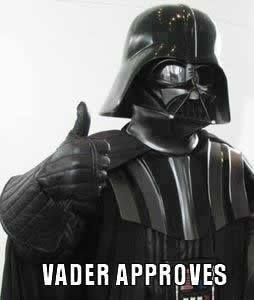 I need this to be a shirt. Darth Vadar is just too awesome.