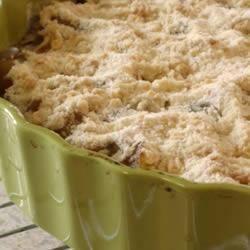Zucchini Crumble Tart ~ SERIOUSLY tastes just like apple pie!!