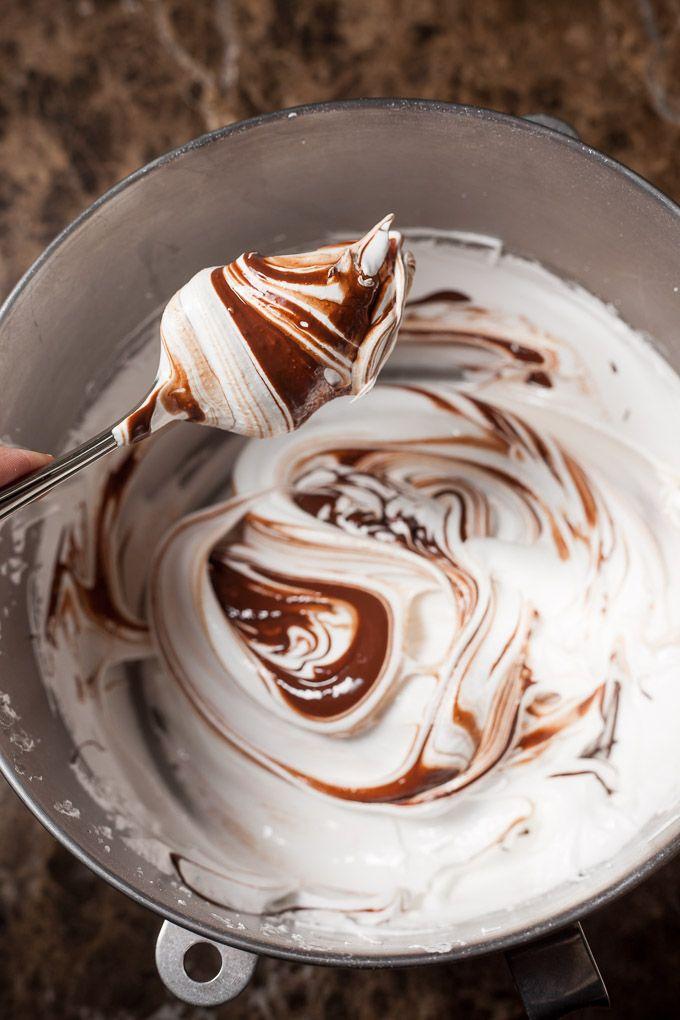 Chocolate Salted Caramel Pavlova
