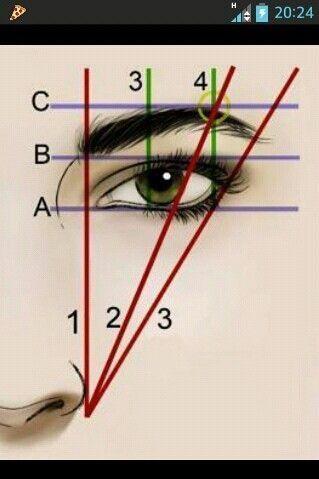 Wie man Augenbrauen bildet. #EyeMakeupBright