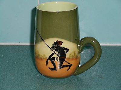 1950's Handpainted Martin Boyd Australia Aboriginal,Spear & Kangaroo Signed Mug in Pottery, Glass | eBay