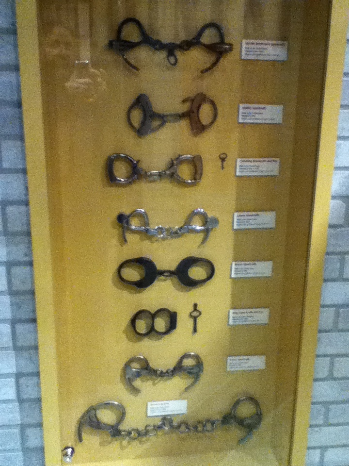 Handcuffs used by Harry Houdini http://historyofmagiconline.com/harry-houdini/photos-houdini-museum-appleton/
