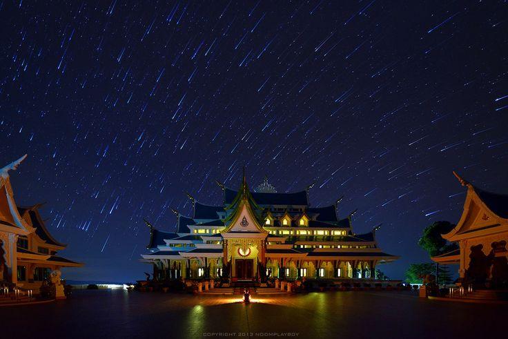 Startrails : Wat Pa-Phu-Kon at Thailand by noomplayboy