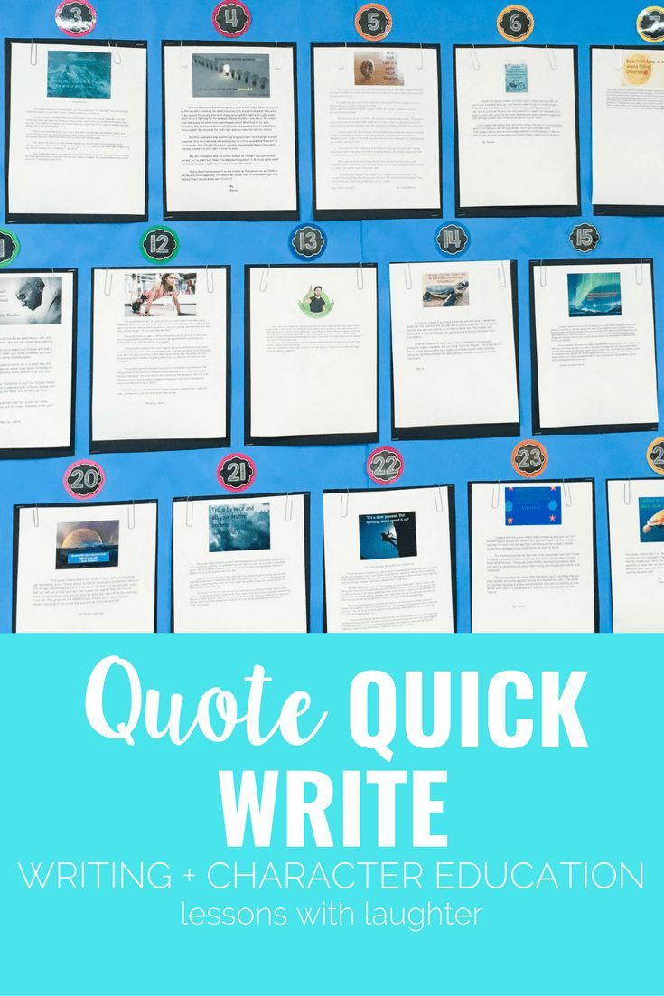 Quote Quick Write: Combining Writing and Character Education