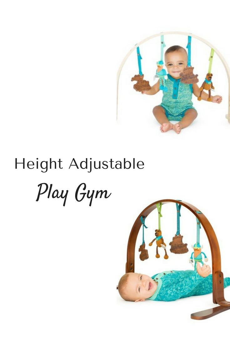 Height adjustable play gym - fun for baby at a young age and while sitting up. Play buddies can be detached and put on a car seat or stroller. #ad